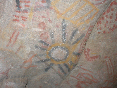 Cave Painting in Catavania (Baja, Mexico)