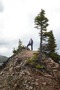 KMJ on top of Kicking Horse Mtn.