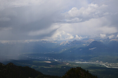 Rain approaching in Golden B.C.