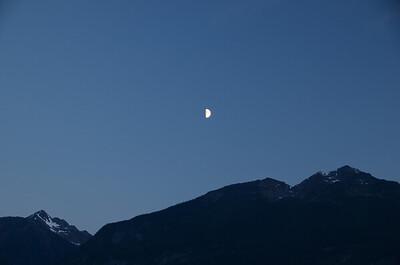 Moon over Golden B.C.