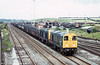 20041 and 20081 pass Toton with a mixed bag of loaded coal wagons on 20th August 1980.
