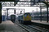 Class 25 released to run around its train at Crewe, 1978.