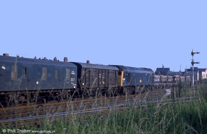 25070 at Croes Newydd Wrexham on 3rd July 1973.