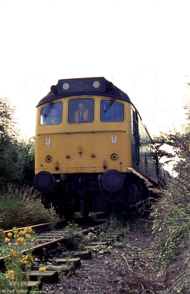 There are plenty of weeds for 25291 and its weedkilling train seen near the end of the Wrexham to Abenbury branch on 13th July 1979.