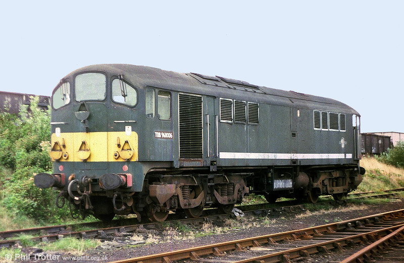 The now-preserved Class 28 Metrovick Co-Bo no D5705 at Danygraig, Swansea in 1975. By this time the loco was in departmental use as train heating unit TDB 968006.