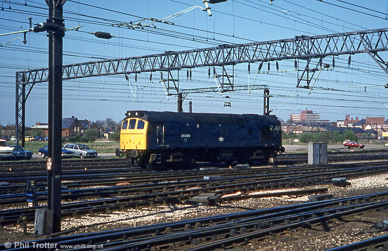 25090 at Crewe on 15th April 1981.