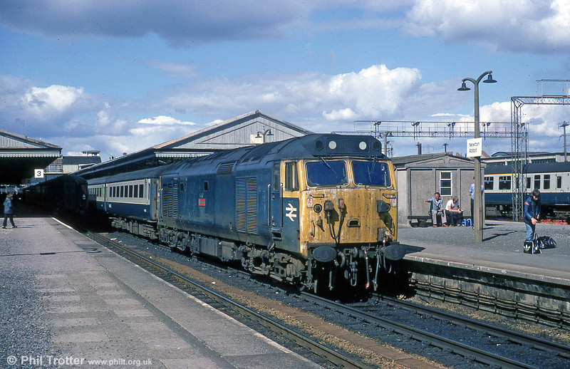 A somewhat shabby looking 50020 'Revenge' at Newton Abbot, heading west.