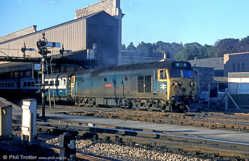 50039 'Implacable' leaves Exeter St. David's.