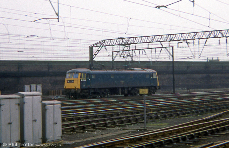 81008 is seen at Crewe in 1978.