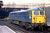 Thyristor fitted 87101 'Stephenson' at Birmingham New Street on 29th March 1980.