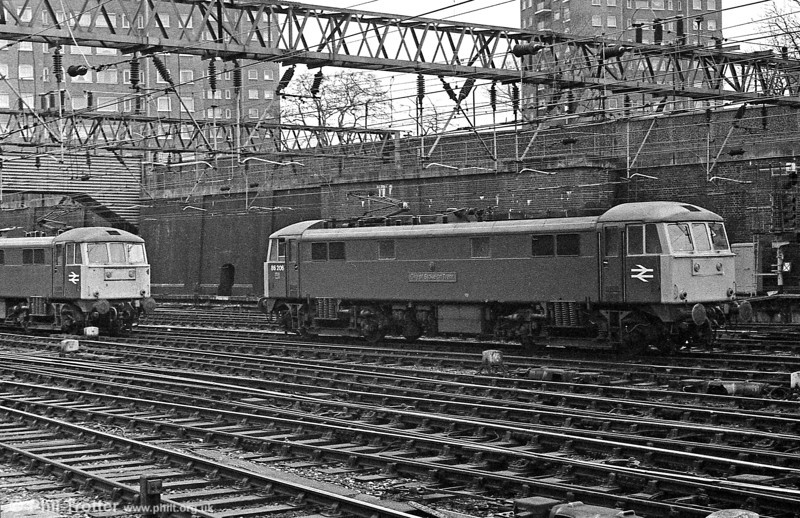 86206 'City of Stoke on Trent' and a classmate at London Euston in the 1980s.