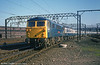 87034 'William Shakespeare' approaches Crewe on 15th April 1981.