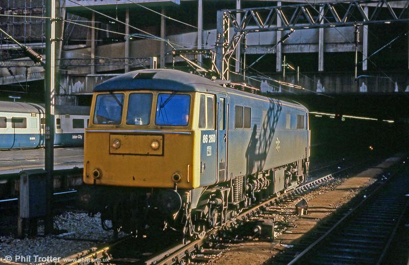 86260 at Birmingham New Street on 2nd February 1980.
