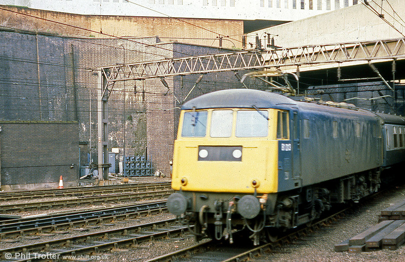 81013 at Birmingham New Street on 29th March 1980.