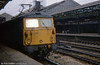 A class 87 at Crewe. Loco unknown.