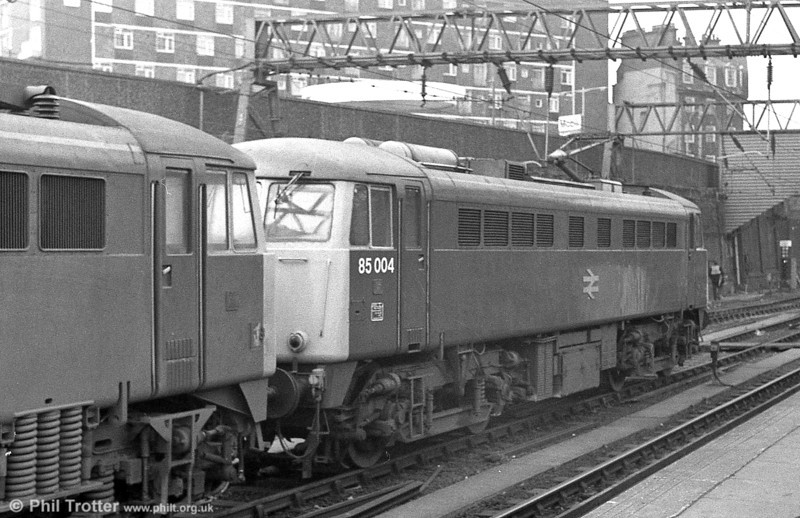 85004 at London Euston in the 1980s.