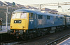 83009 in close up with the 0822 Liverpool Lime Street to London Paddington at Coventry on 26th January 1980.