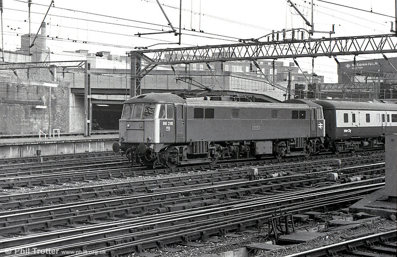 86216 'Meteor' departs from London Euston in the 1980s.