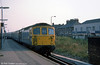An unidentified class 33/1 calls at Eastleigh on 29th August 1975.
