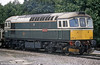 A closer look at green 33008 'Eastleigh', at Westbury in September 1988.
