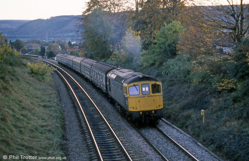 An evening service for Crewe heads north after calling at Abergavenny.