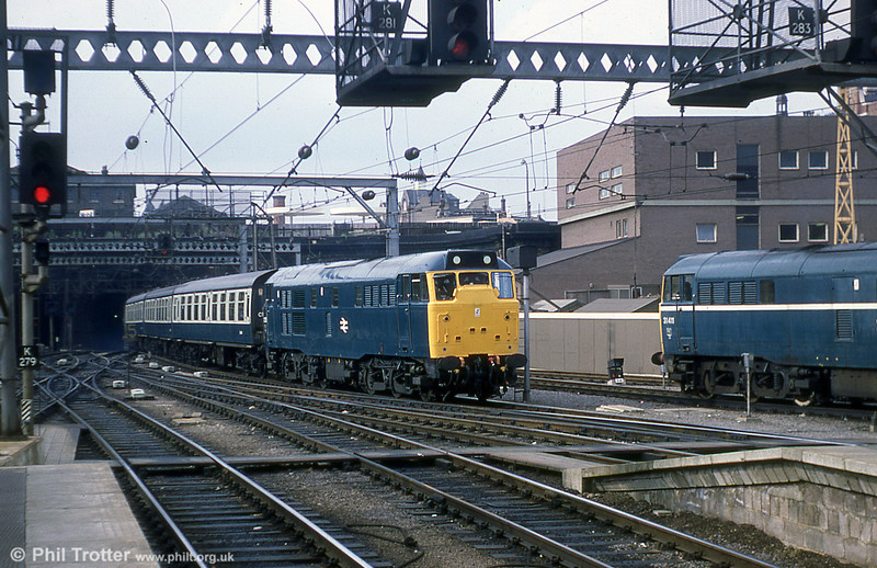 Class 31s at London, Kings Cross on 18th July, 1979.
