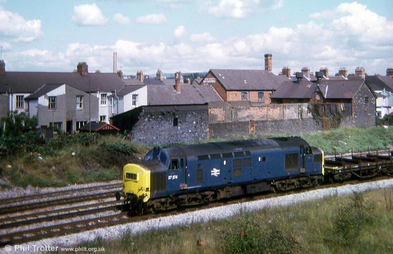 37274 passes Pengam, Cardiff in 1974.