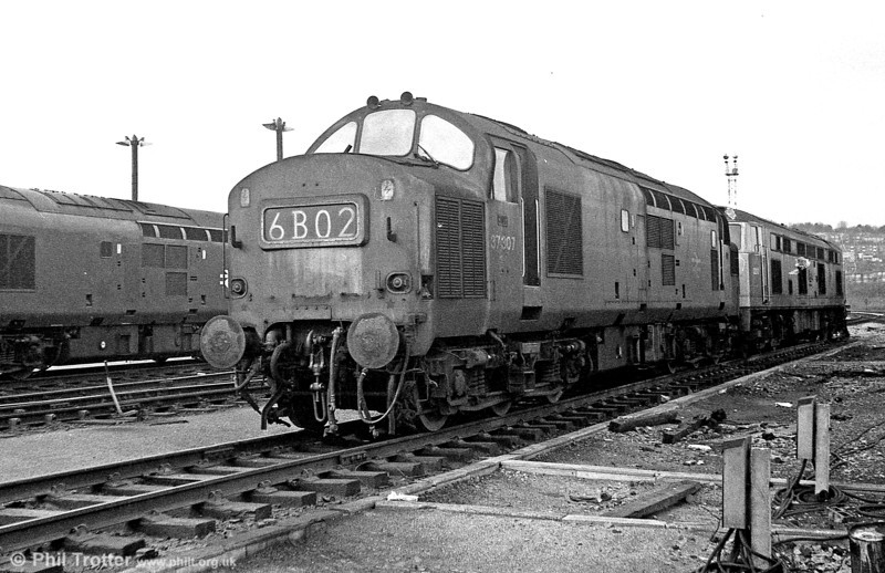 37307 stabled at Ebbw Junction on 8th March 1975.
