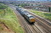 On 7th June 1980, 37205, 37208, 37232 and 37138 pass Narroways Hill Junction, Bristol.