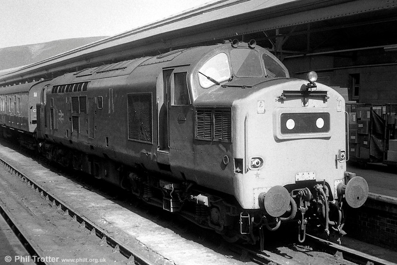 An unidentified class 37 at Swansea with a train from West Wales.