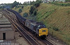 37230 leaves the Ebbw Vale line at Gaer Junction with a load of coal in 1980.