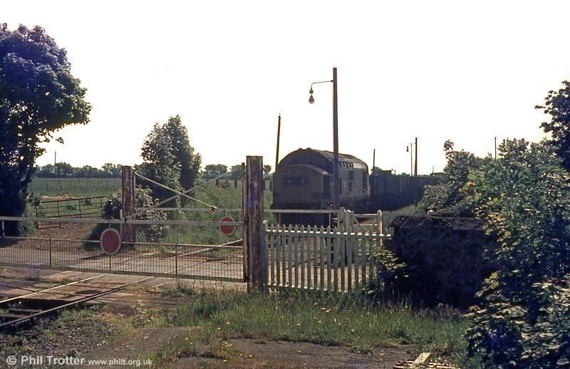 37178 approaches the level crossing at Manorbier in August 1974. Freight services on the Pembroke Dock branch (latterly only domestic coal for Pembroke Dock) ceased in 1978.