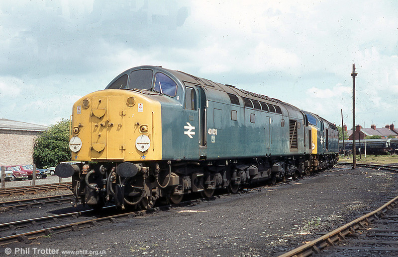 40031 'Sylvania' awaiting its next duty at Croes Newydd, Wrexham in 1979.