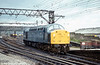 40013 'Andania' runs light through Guide Bridge on 18th August 1980.