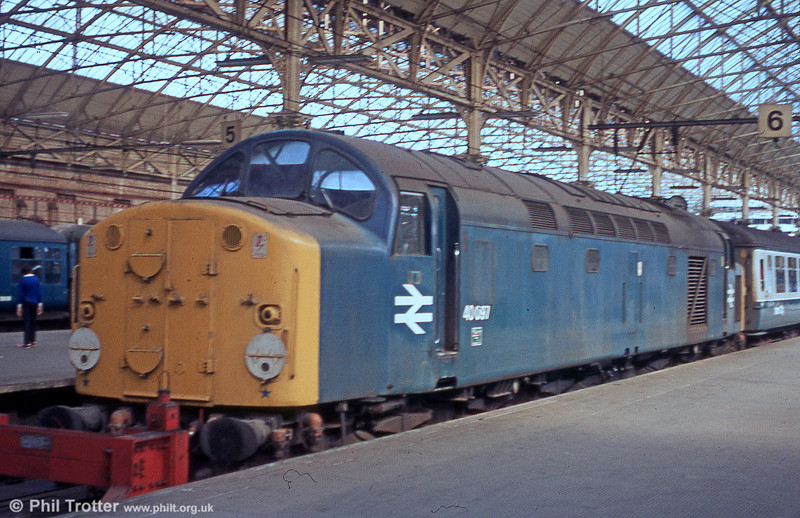 40097 at Manchester Piccadilly.