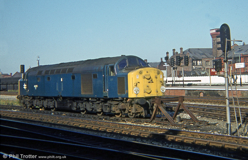 40073 awaits its next job at Manchester Victoria on 19th August 1978.
