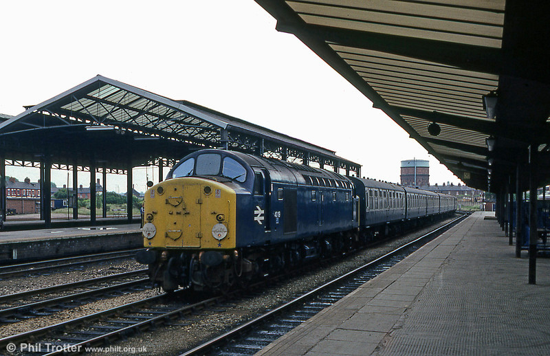 40119 passes through Chester with a train for the North Wales Coast in 1978.