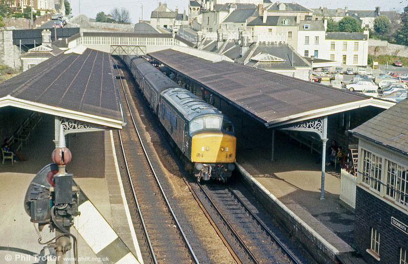 46038 at Teignmouth on 24th August 1979.