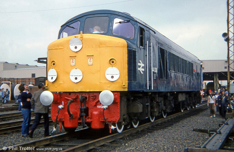 44008 'Penyghent' was one of the stars on display at the Toton Open Day, 9th June 1979. The loco is now at Peak Rail.