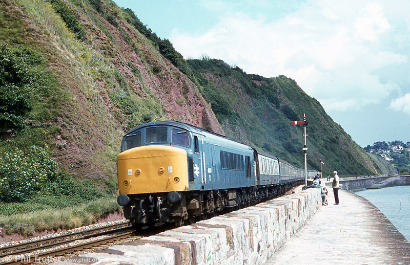 The classic scene taken on the sea wall at Dawlish.