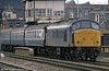 An unidentified class 45 approaches Manchester Victoria.