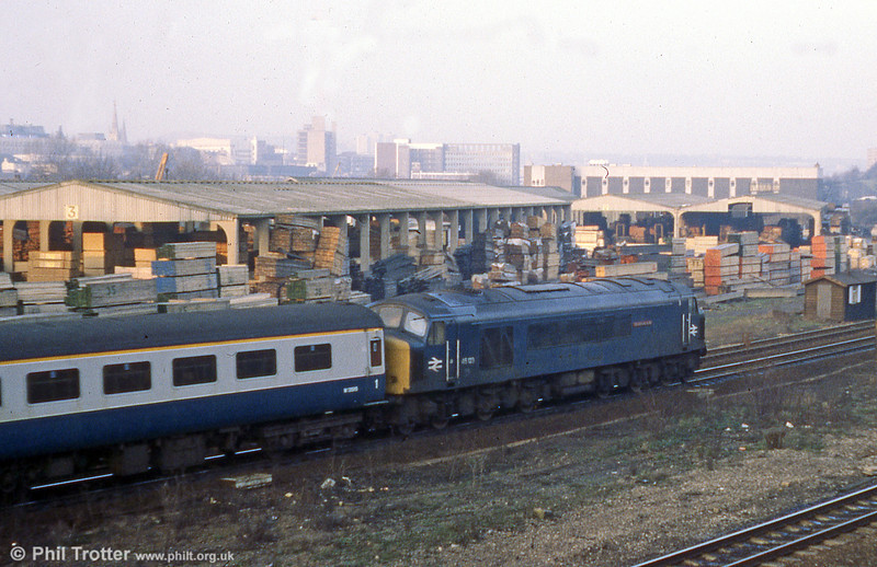 45123 'Lancashire Fusilier' at Sheffield on 12th January 1980.