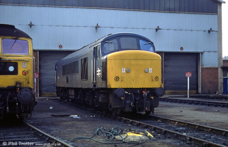 46022 rests on Landore Diesel Depot on 22nd December 1979.