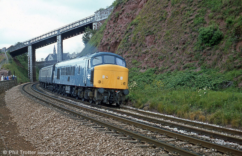 Another class 46 at Teignmouth with a summer Saturday service for the north.