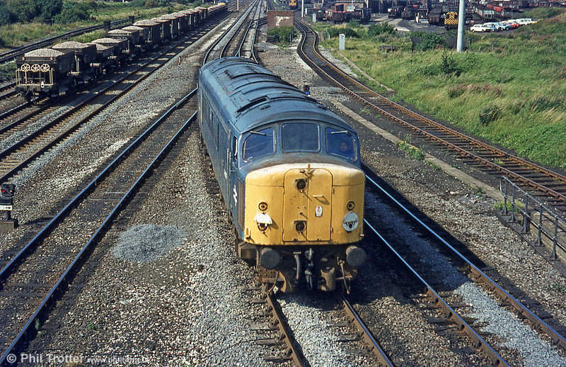 44007 'Ingleborough' at Toton on 20th August, 1980.