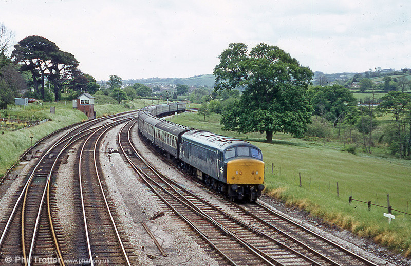 Another pleasant view taken at Aller Junction c.1981.