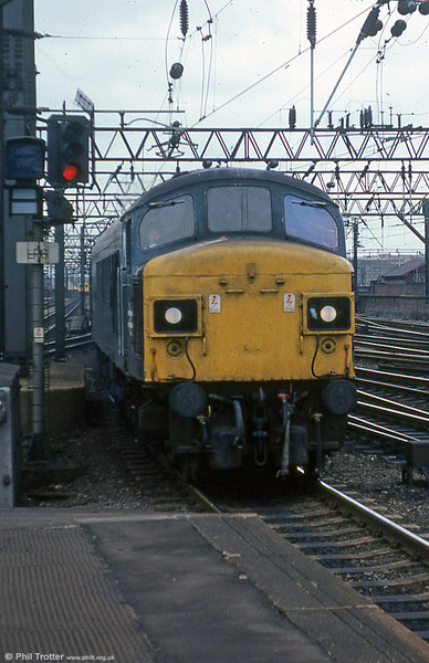 45053 at Manchester Piccadilly on 19th July, 1979.