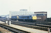46009 and 47245 at Bristol Temple Meads on 20th February 1980.