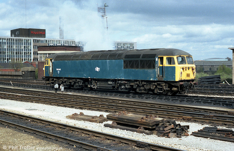 56045 is seen at Bristol Temple Meads.