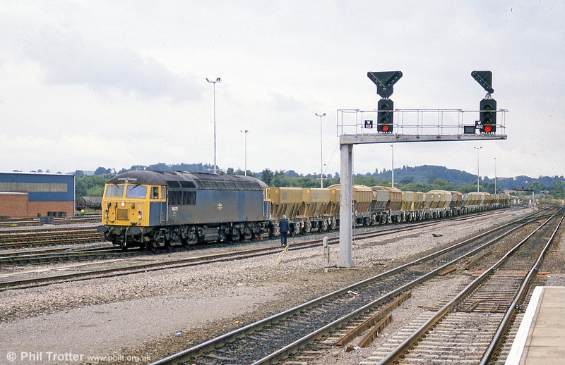 56070 at Westbury on a stone train in September 1988.